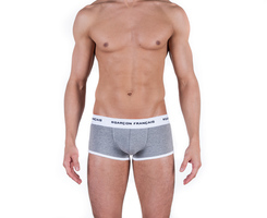 Boxer court gris chiné Garçon Français made in France